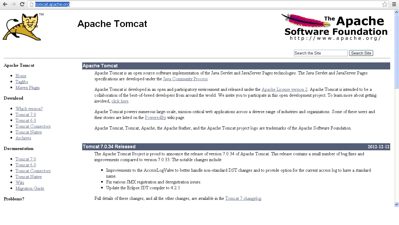 Install Apache Tomcat Download Windows 7